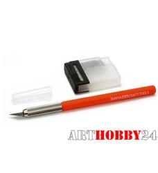 Цанговый модельный нож с 25 доп.лезв. с оранжевой ручкой