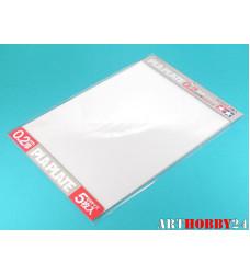 Пластик прозр.5 листов 0.2mm 364x257mm