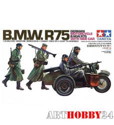 35016 Нем. мотоциклисты на BMW R75 с коляской