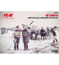 48804 Bf 109F-4 с персоналом ВВс Германии