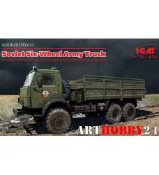 35001 Советский шестиколесный армейский грузовой автомобиль