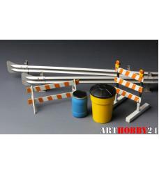 Barricades & Highway Guardrail Set
