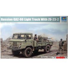 01017 Russian GAZ-66 Light Truck with ZU-23-2