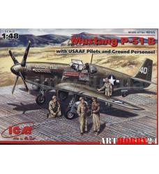 48125 Р-51 В с пилотами и техниками