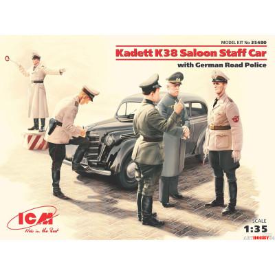 35480 Kadett K38 седан, с Германской дорожной полицией