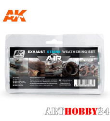 AK-2037 Exausts, Stains Weathering Set