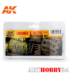 AK-087 Engines And Metal Weathering Set