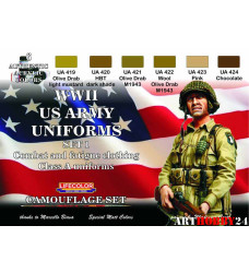 LifeColor CS17 WWII US ARMY UNIFORMS COLOURS SET 1