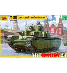 3667 танк советский тяжёлый многобашенный Т-35