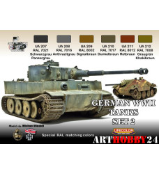 LifeColor CS03 GERMAN WWII TANKS SET 2