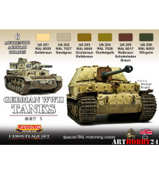 LifeColor CS01 GERMAN WWII TANKS SET 1
