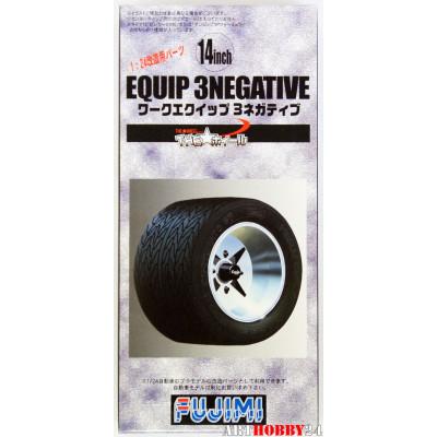 Equip 3negative Wheel & Tire Set 14 inch