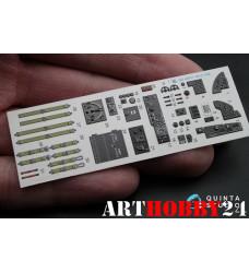 QD48011 3D Декаль интерьера кабины Пе-2
